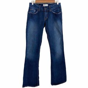 BKE Culture Dark Wash Factory Faded Bootcut Jeans